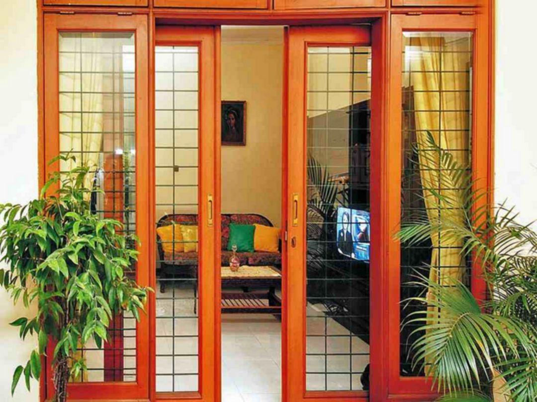 20 Minimalist And Beautiful Front Door Design Ideas For Your House Home Door Design Front Door Design Entrance Door Design Pintu rumah 2 daun
