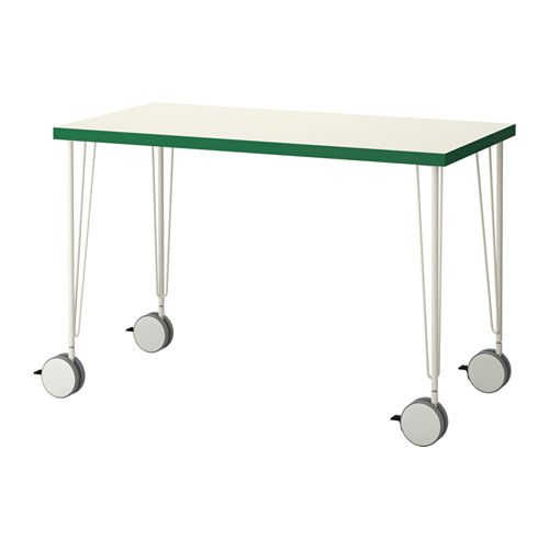 linnmon krille table ikea pre drilled leg holes for easy assembly lockable casters make the table easy to move and lock in place - Table A Roulette Ikea