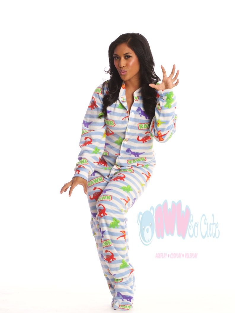 Snap into AwwSoCute s Blue Dino Footie Pajamas! With juvenile snap closures  for easy diaper changes!  ageplay  cosplay  abdl  ddlg  adultbaby   adultbabies ... b28d30c51