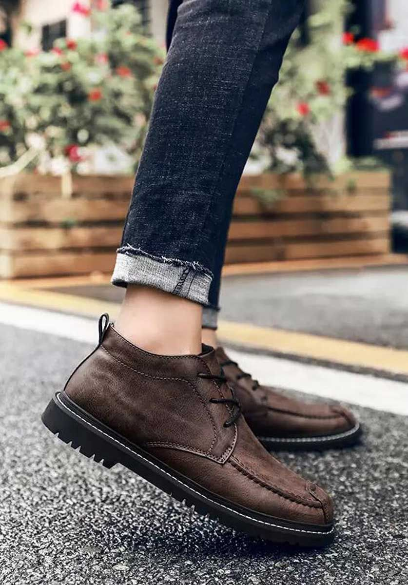 Grey classic retro leather derby dress shoe in 2020 | Mens