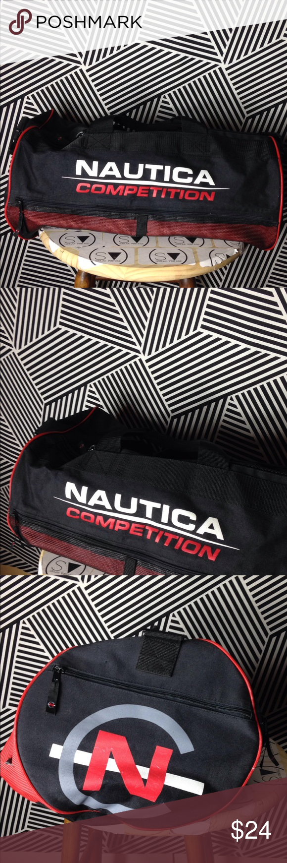 Vintage Nautica Competition Duffel x