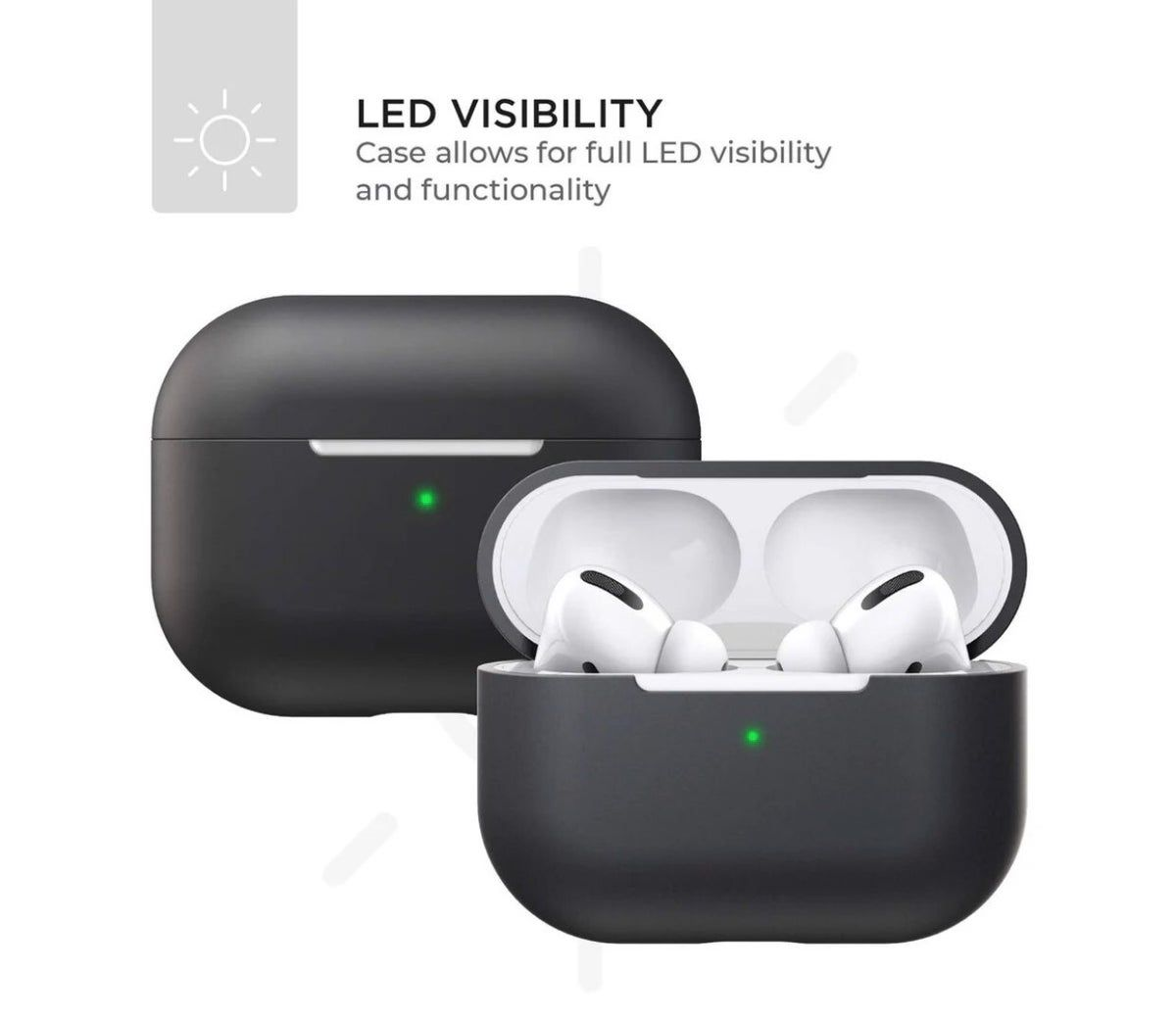 Apple Airpods Pro Silicone Case Black In 2021 Protective Cases Airpods Pro Silicon Case