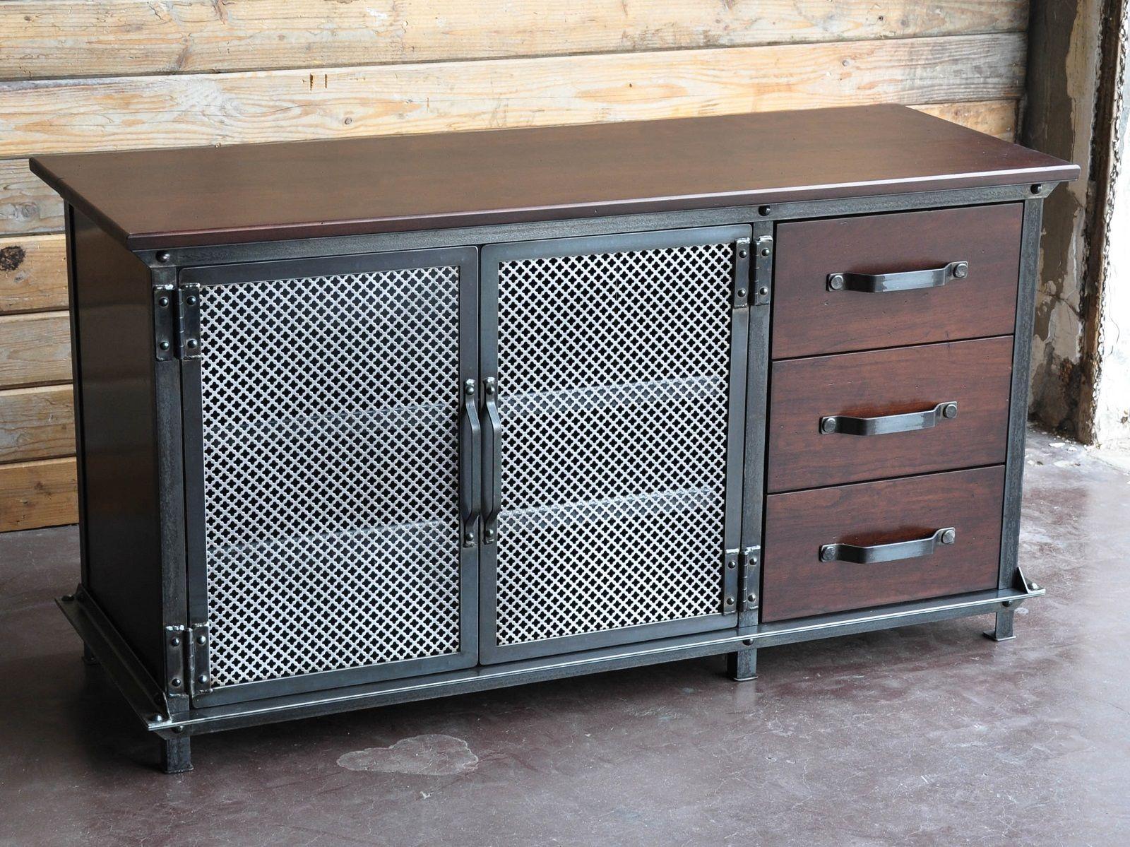 Ellis console with drawers ideas para el hogar muebles for Muebles industriales metal baratos