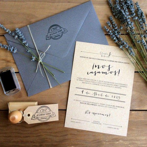Invitaciones de boda originales Weddings Pinterest Wedding - invitaciones para boda originales