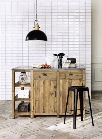 meubles de cuisine ind pendant et ilot maison du monde bois recycl ilot et cuisine en bois. Black Bedroom Furniture Sets. Home Design Ideas