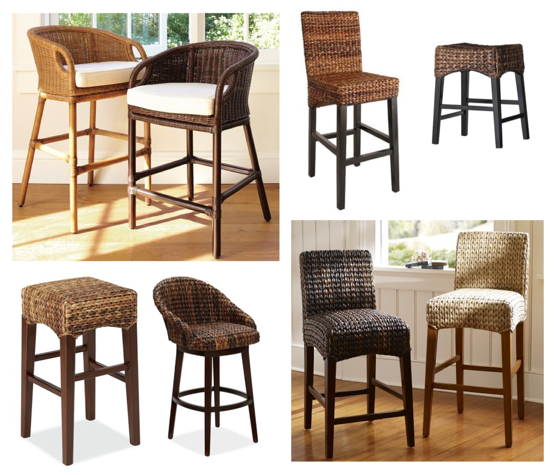 Modern Bar Stools Counter Height Seagrass Bar Stools Furniture