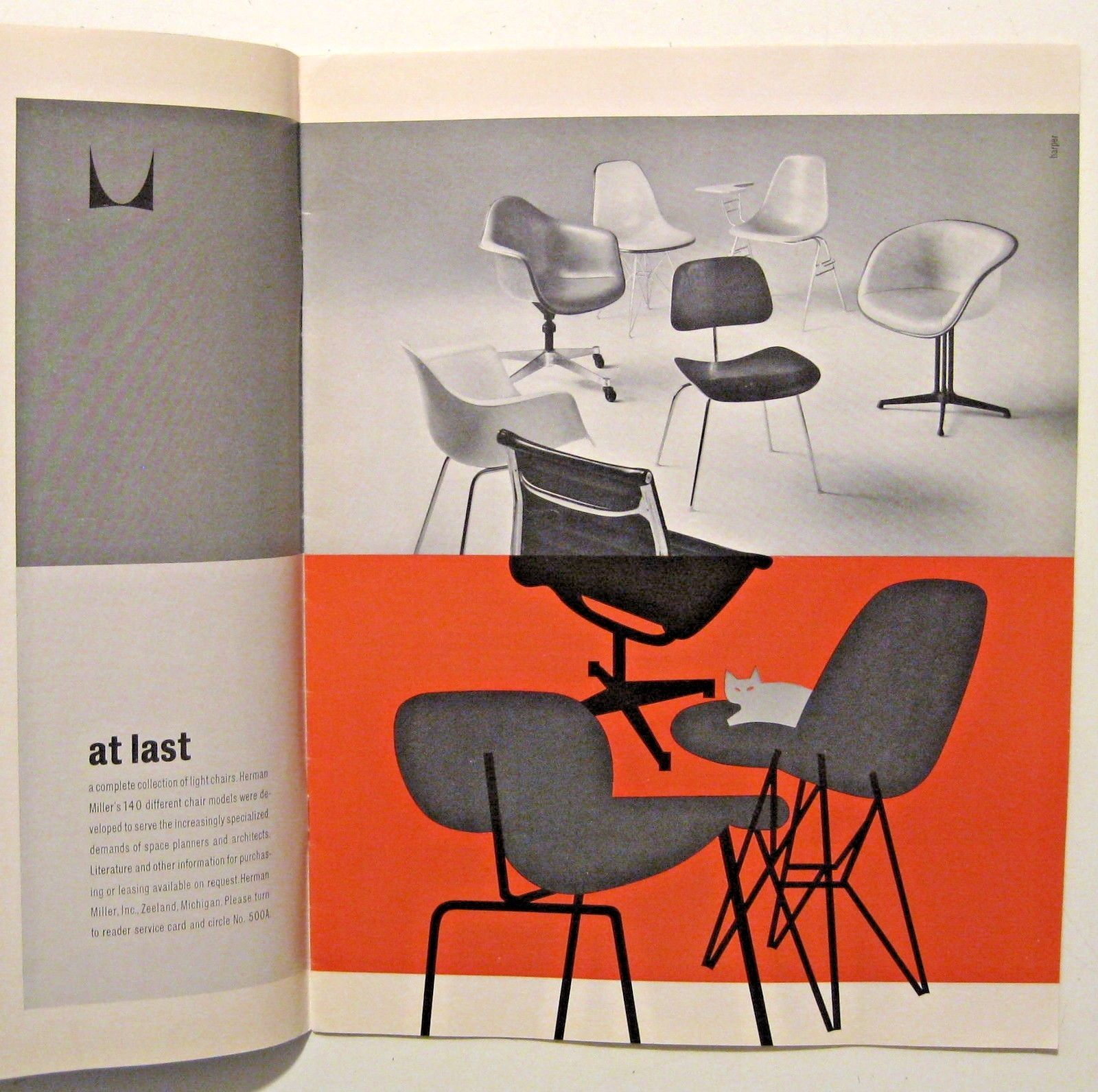 Vintage Hermanmiller Eames Chairs Advertisement イームズ