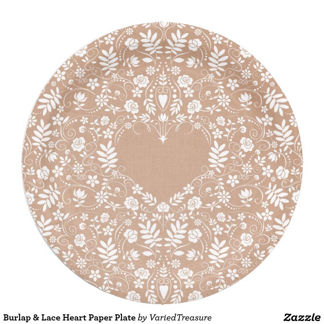 Burlap \u0026 Lace Heart Paper Plate 9 Inch Paper Plate | Weddings - Fall .. Burlap Lace Heart Paper Plate 9 Inch Paper Plate Weddings Fall  sc 1 st  Best Image Engine & Amusing Burlap And Lace Paper Plates Ideas - Best Image Engine ...