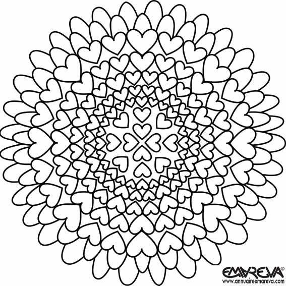 doodles coloriages coloriages nouveaux coloriages coloriages mandalas coloriages enfants rosace coeur cocloriag enfant colorier facile