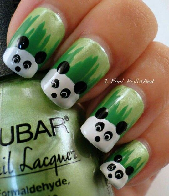 Panda nails | Balayage | Pinterest