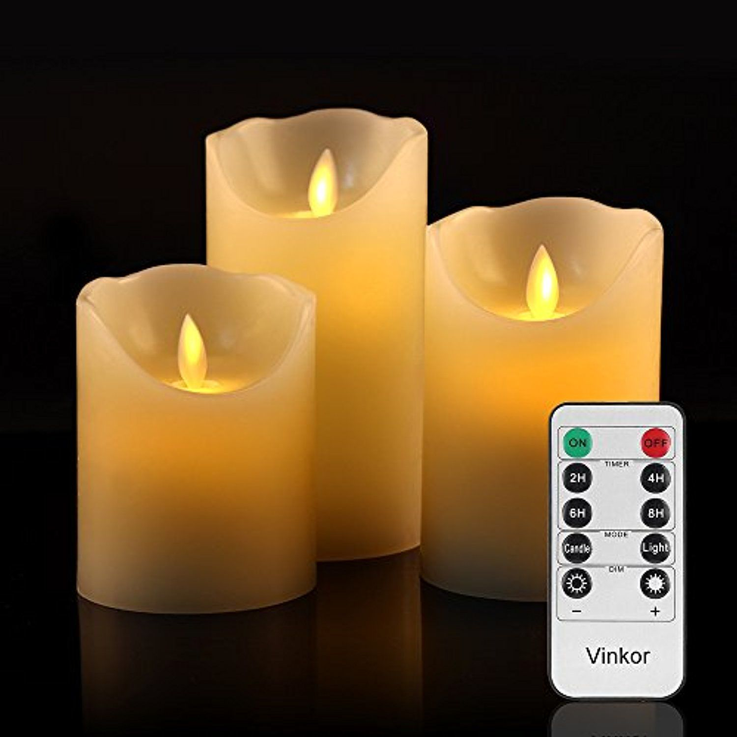 Vinkor Flameless Candles Battery Operated Candles Led Candles Set 4