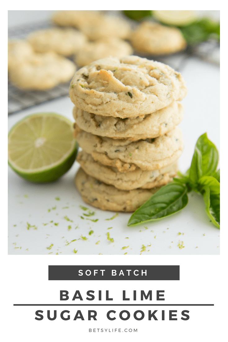Basil Lime Sugar Cookies