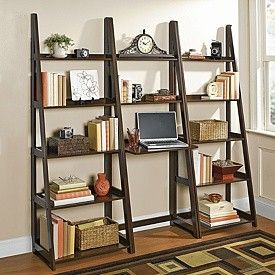 Bookcase And Computer Desk Wall System