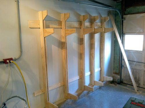 How To Build A Wall Mounted Lumber Storage Rack For The