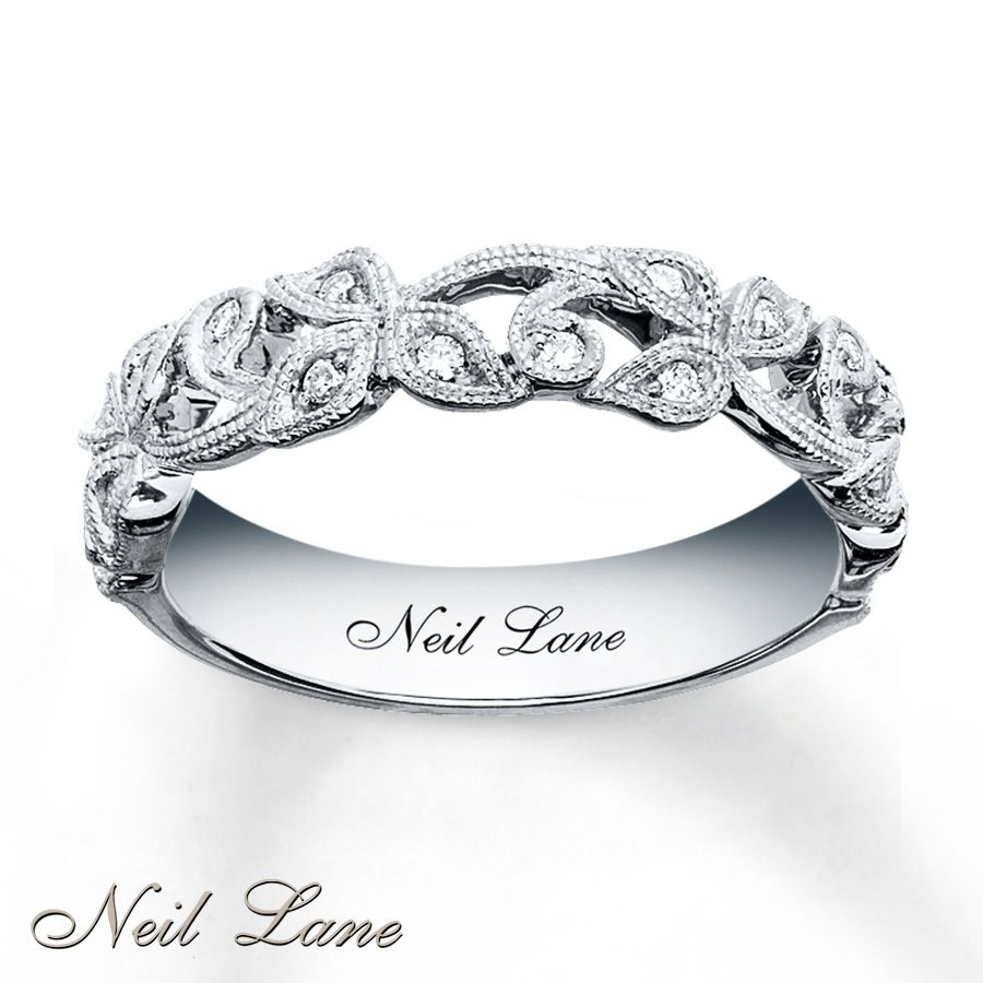 inexpensive wedding rings kay diamond leaves band Neil Lane Designs Ring 1 8 ct tw Diamonds Sterling