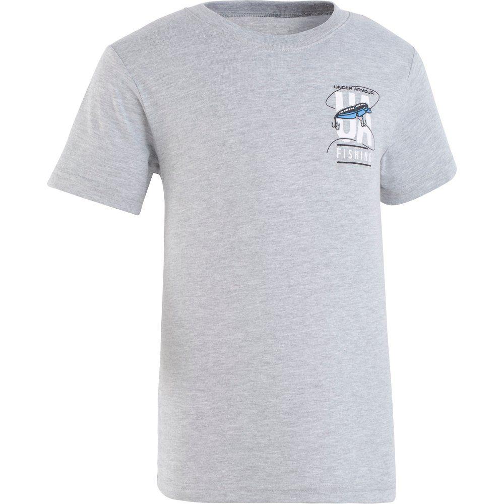 Under Armour Toddler Boys 2T 3T or 4T Blue Heatgear T Shirt Top Fish Hook Logo