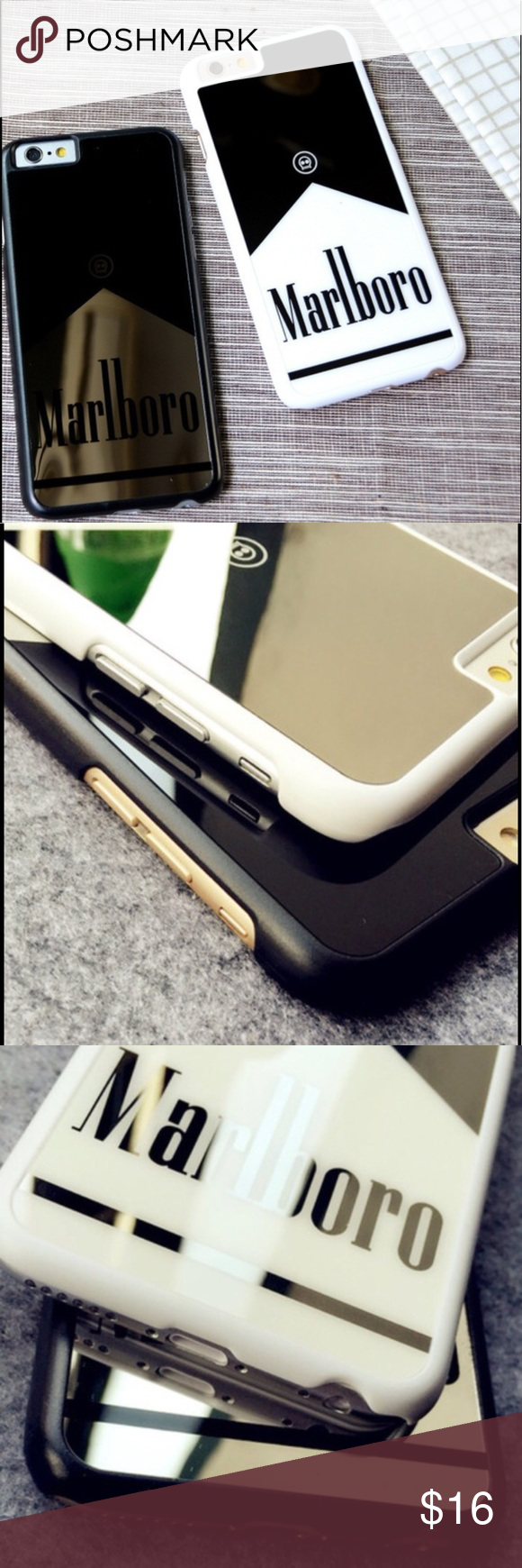 New Luxury Mirrored case white iPhone 6+ New luxury fit