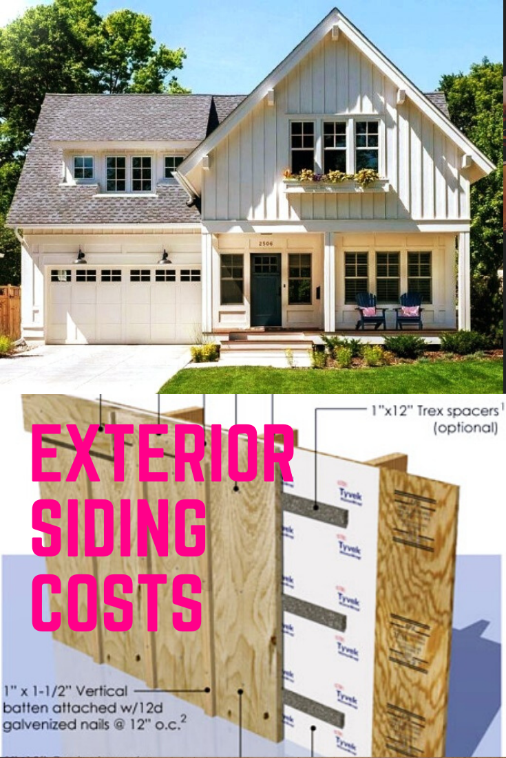 How Much Exterior Siding Siding Cost Board And Batten Siding Exterior Siding