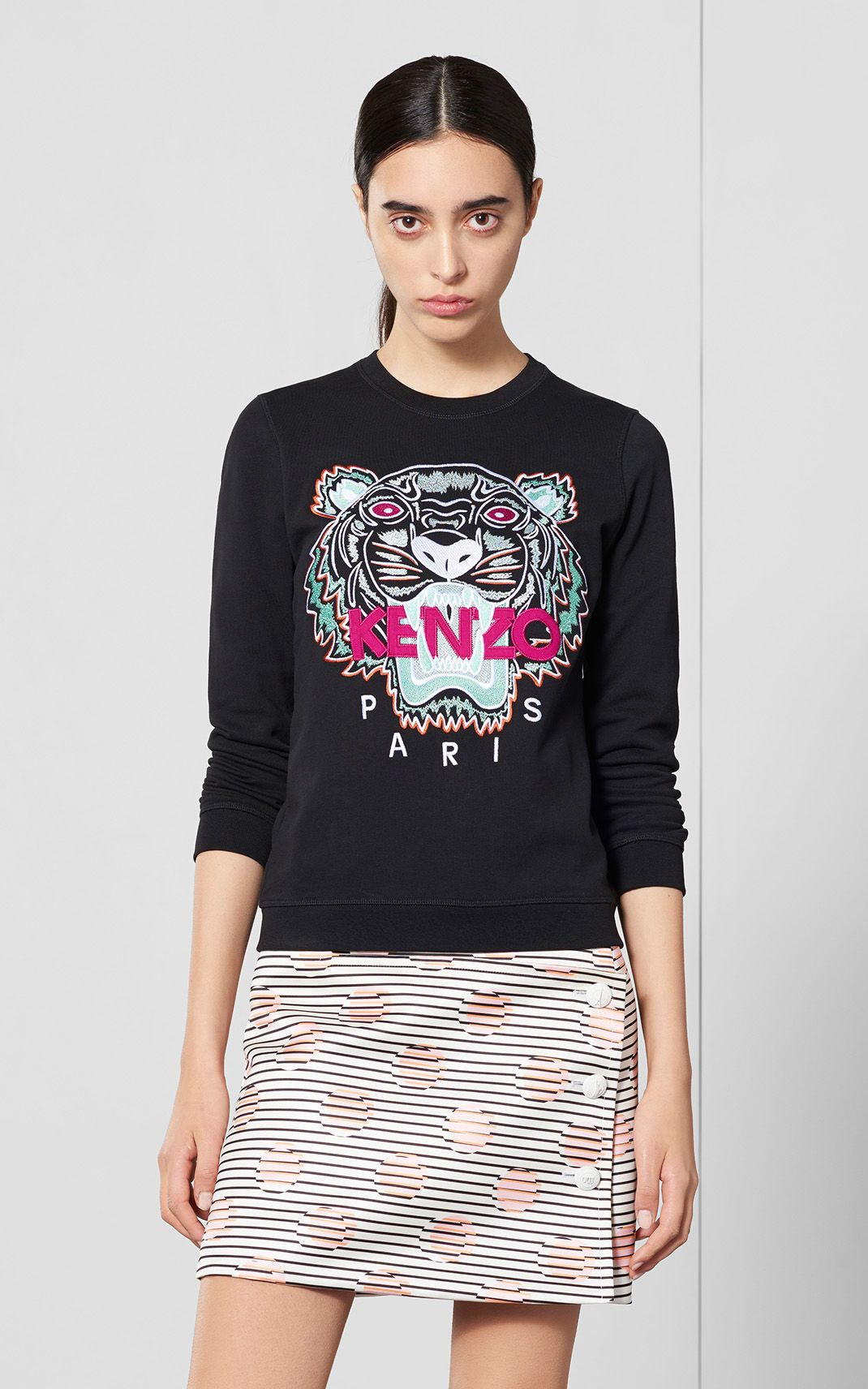 KENZO Paris Tiger Sweatshirt in Black  7f47e5e114