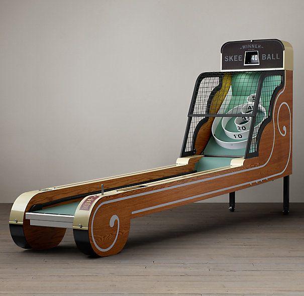 basement - Vintage Arcade Skeeball