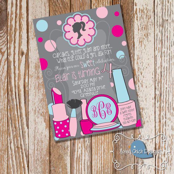 DIY Barbie Silhouette Invitations Barbie by SavvyChickDesigns
