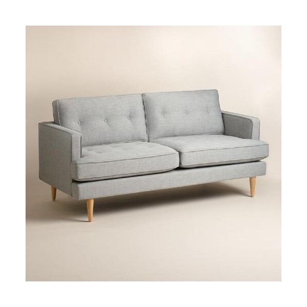 Cost Plus World Market Dove Gray Woven Apel Sofa 500 liked on
