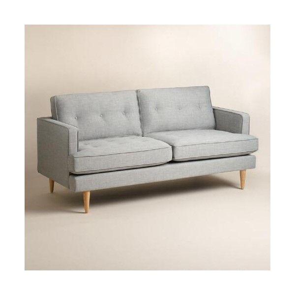 Cost Plus World Market Dove Gray Woven Apel Sofa Cheap Sofas