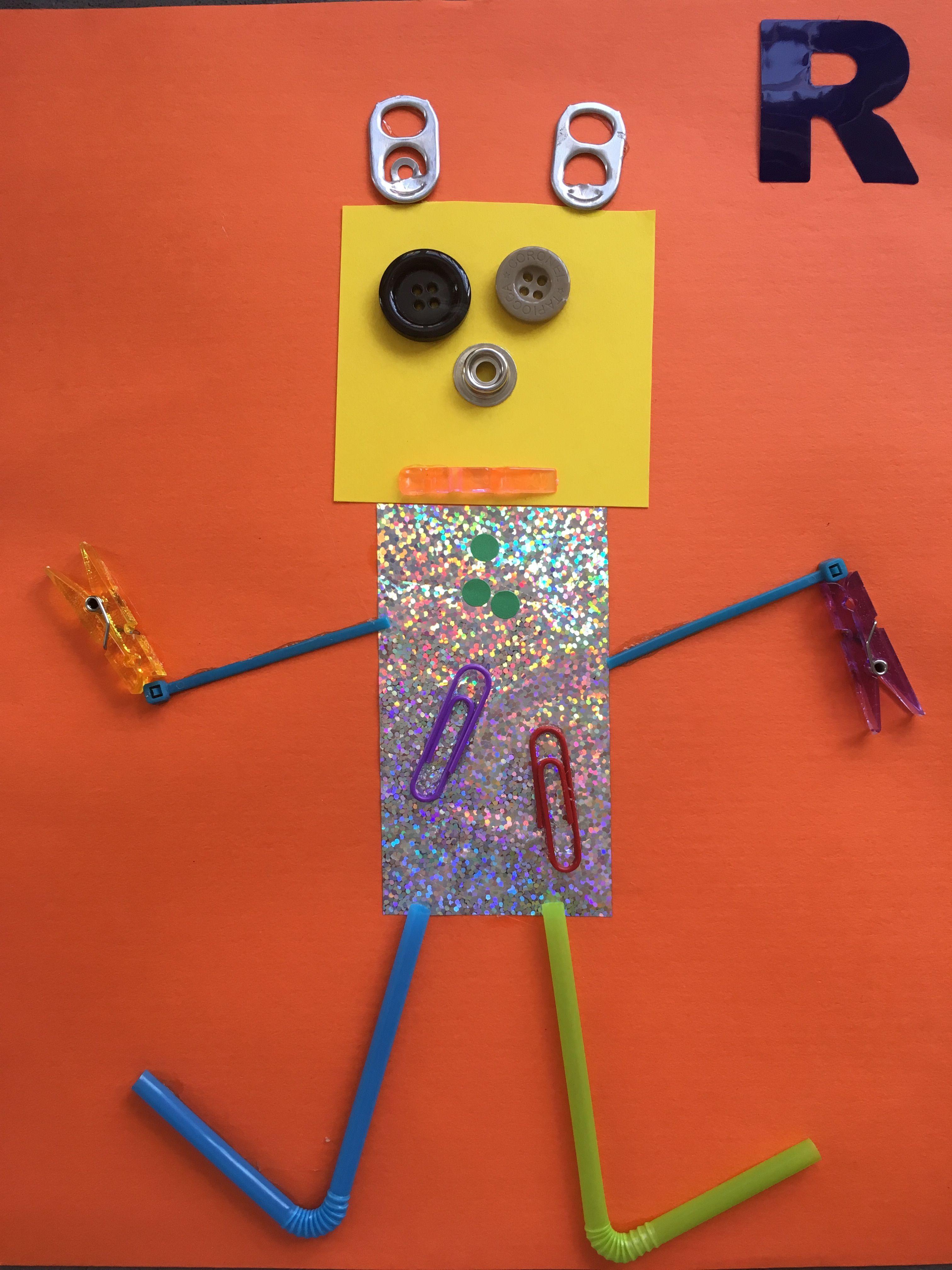 Letter Craft For Preschool R Is For Robot Robotsdibujo