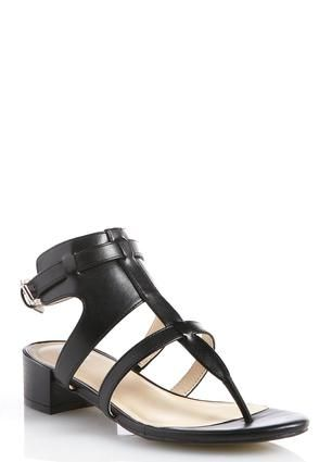 Cato Fashions Wide Width T-Strap Block Heeled Sandals #CatoFashions