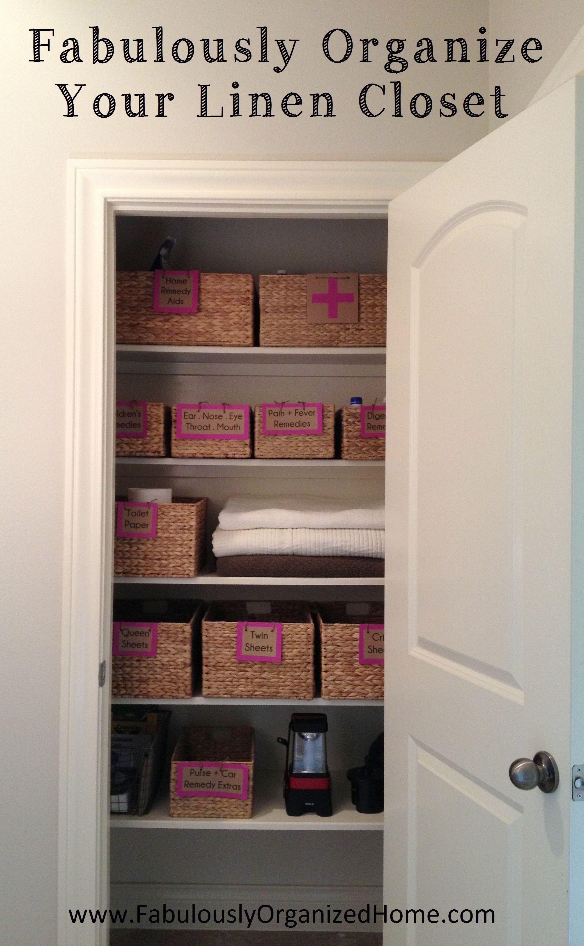 ORGANIZE YOUR LINEN CLOSET | Fabulously Organized Home