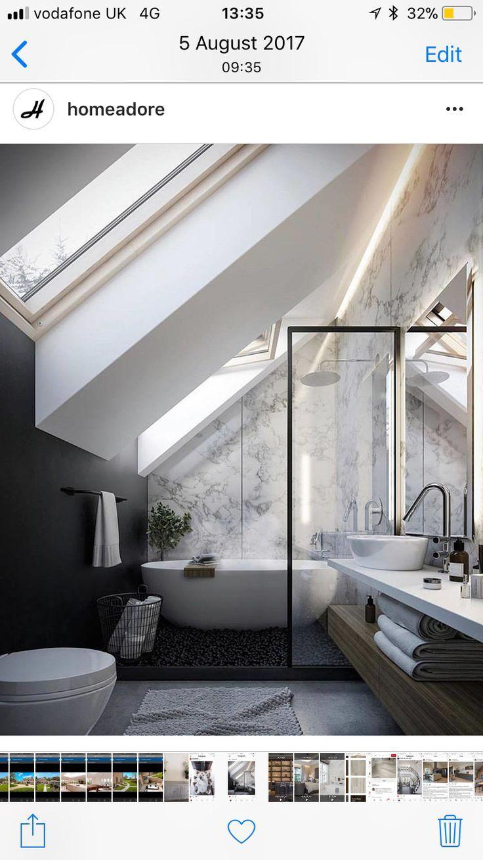 Breathtaking Attic Sloped Ceiling Bathroom Small Attic Bathroom Bathroom Renovations