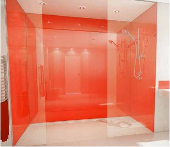 Acrylic Shower Panels   No Grout.