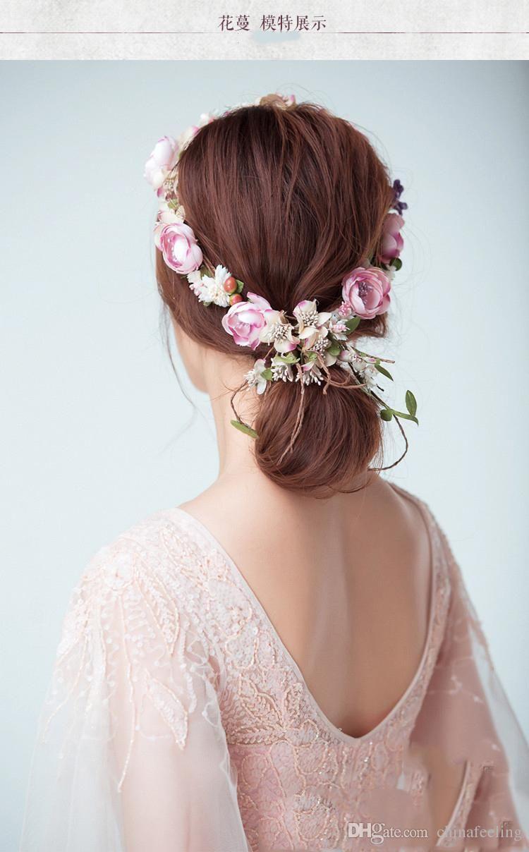 bridal hair jewelry bohemian fabric flower headband diy