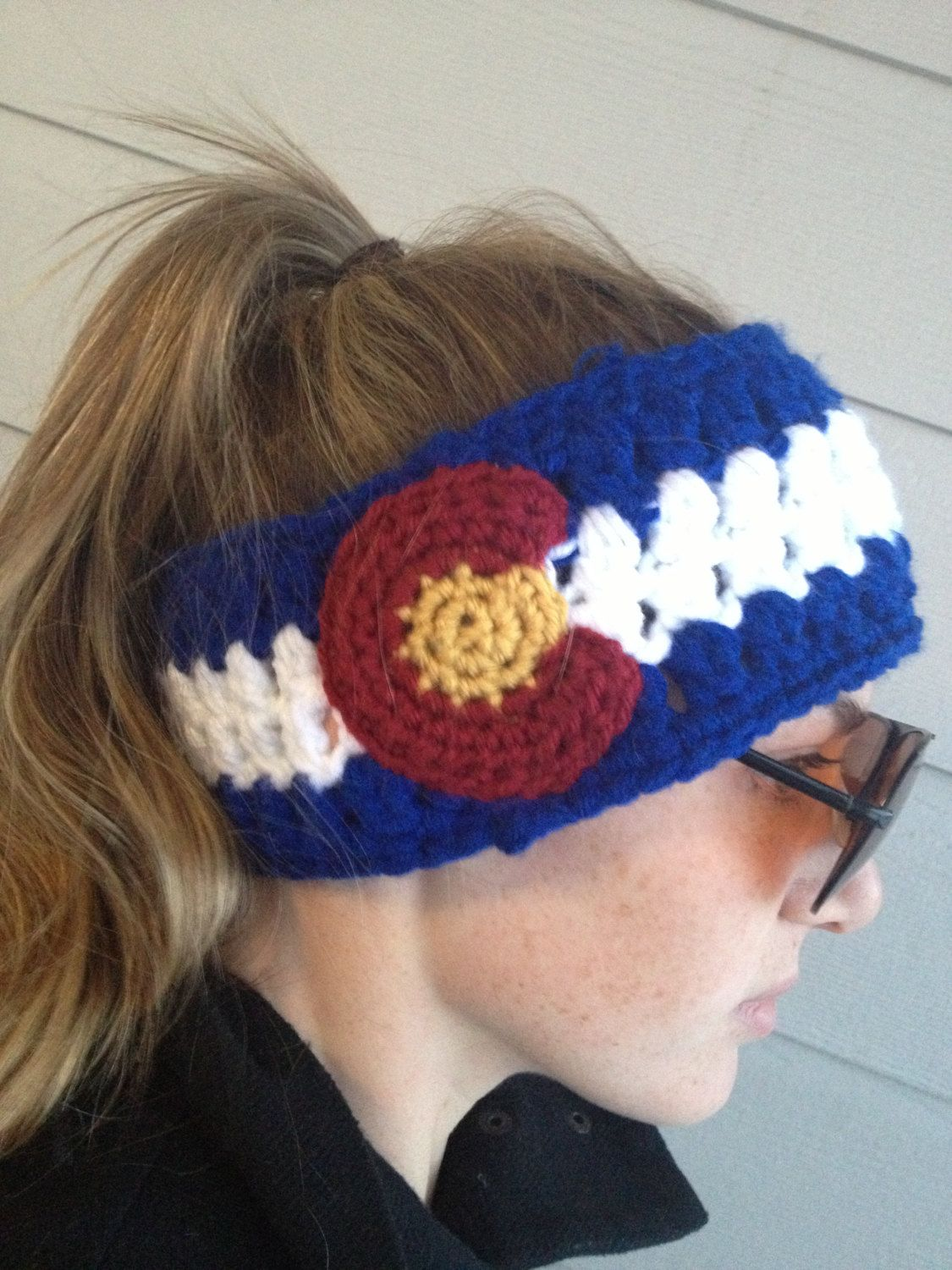 Colorado Flag crocheted headband | Colorado Native | Pinterest ...