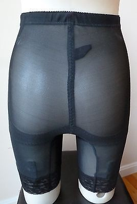 adeb7323f Vintage Sculptress FIRM CONTROL long leg panty girdle w  6 garters sz Small  NEW