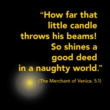Shakespeare candle quote