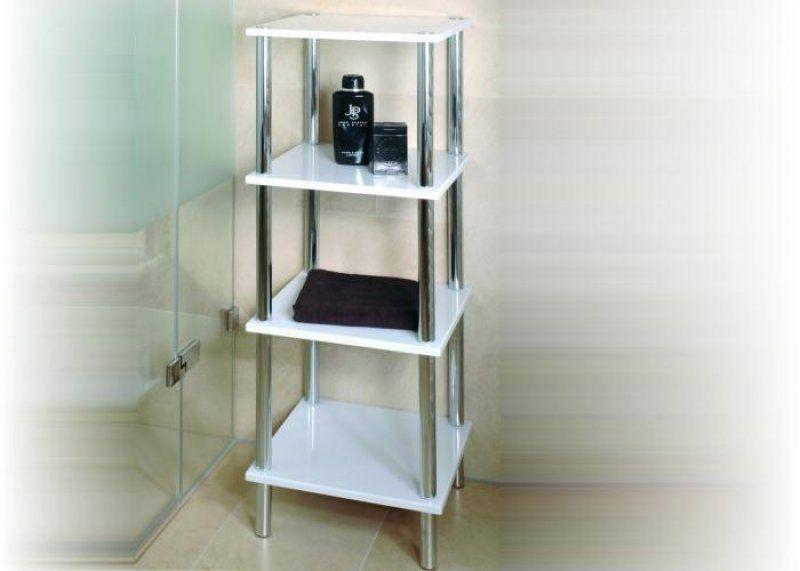 Luxus Badezimmer Regal Weiß Hochglanz | Einrichtungsideen