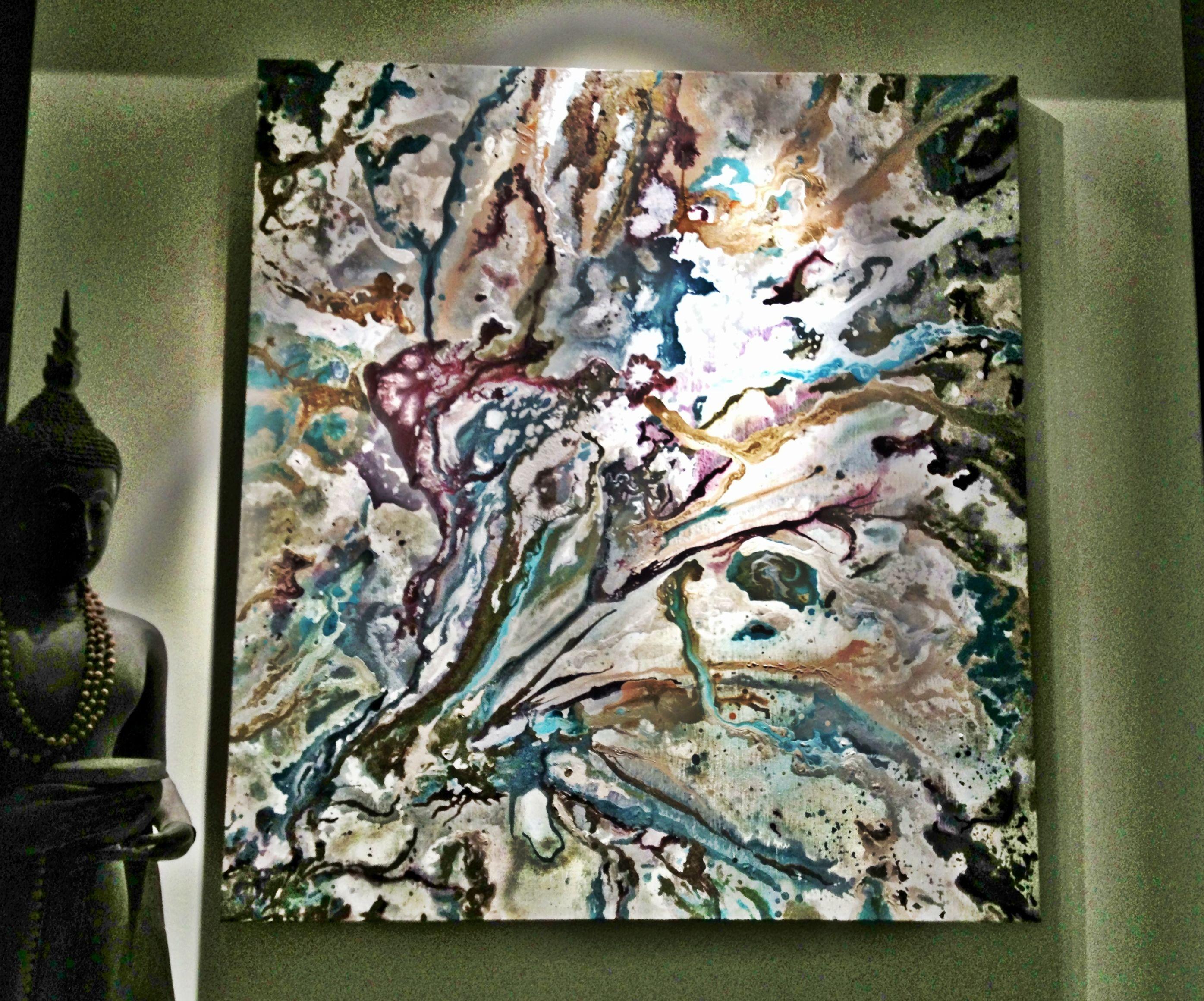 Arrecife de coral cuadro pintado sobre bastidor de 3cm de - Lienzo sobre bastidor ...