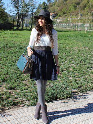 ccpetiterobenoire Outfit   Otoño 2012. Combinar Gorro-boina Gris Oscuro Mango, Cómo vestirse y combinar según ccpetiterobenoire el 22-10-2012