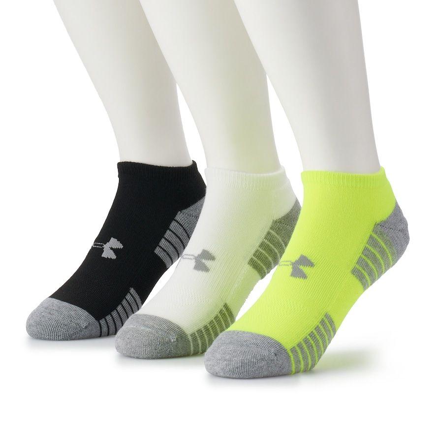 edb863ba3 Men's Under Armour 3-pack HeatGear Performance Training No-Show Socks,  Size: 10-13, Yellow White Black