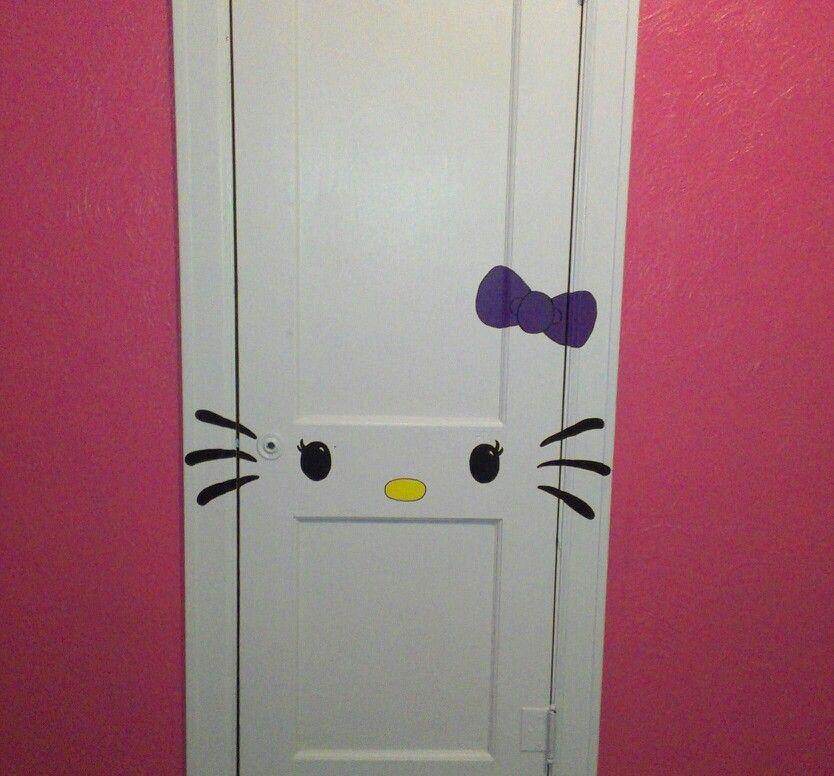 Hello Kitty Opbergkast.Hello Kitty Closet Door Girls Room Locker Storage Home Decor