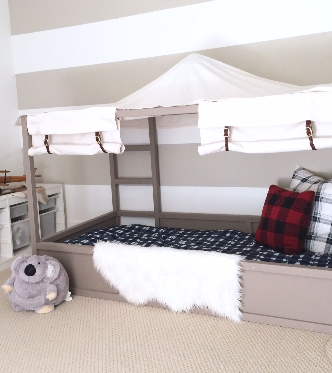 Harlow Thistle Home Design Lifestyle Diy Ikea Kura Bed Hack Diy Boy Canopy Bed Ikea Kura Bed Boys Bed Canopy Kura Bed