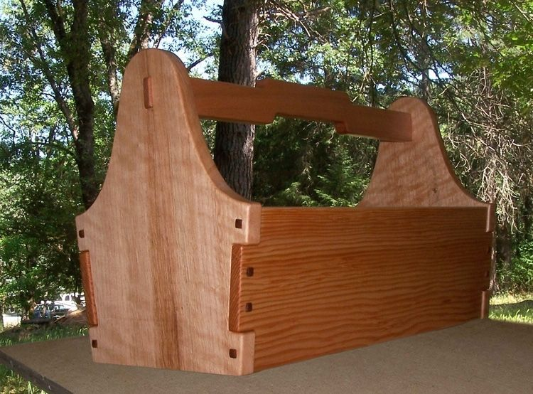 Custom Made Greene Greene Garden Tool Tote Wood Tool Box Tool Tote Wood Shop Projects