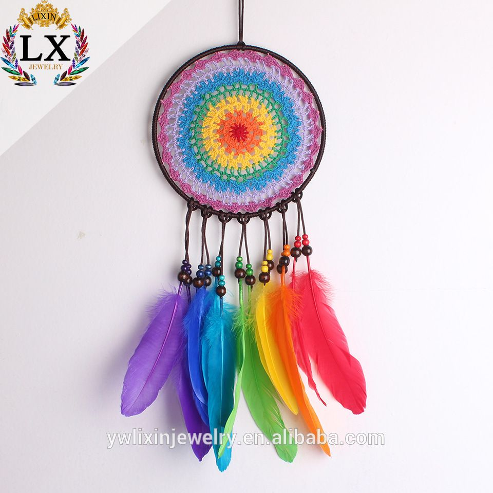 Wholesale Dream Catchers Fair Dlx00046 Crochet Dream Catcher 20Cm Wholesale Factory 100% Handmade Inspiration Design