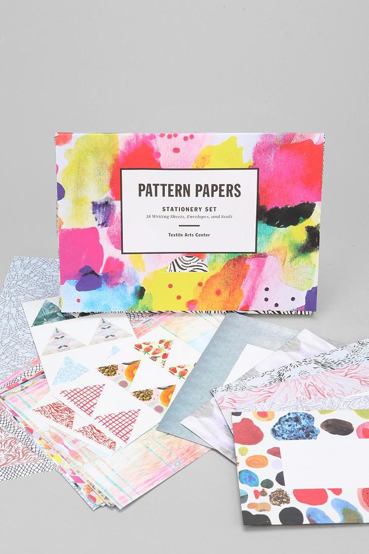 Pattern Paper Stationery Set #urbanoutfitters