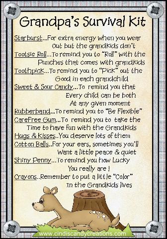 Grandpa Survival Kit   grandparents   Pinterest   Survival ...