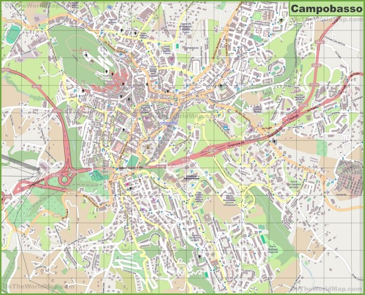 Large detailed map of Campobasso Maps Pinterest Rome Italy