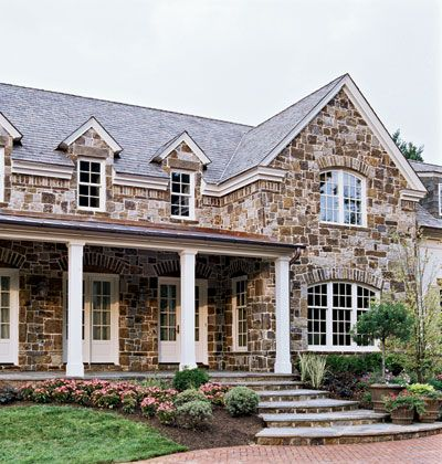 McLean, Virginia showhouse Exteriors of houses Pinterest La - casas piedra