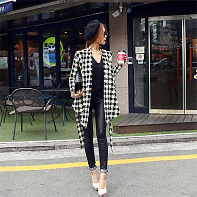 Cappotto Da donna Casual Manica lunga Misto cotone – EUR € 17.26