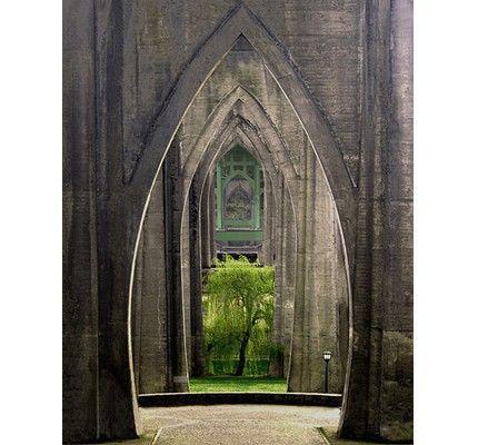 Portland Cathedral Park  16 x 20 Gallery Wrap Canvas